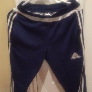 Blue Adidas sweat pants
